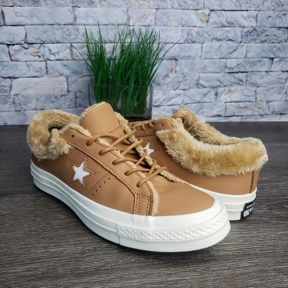 Converse One Star Ox Faux Fur Sneakers